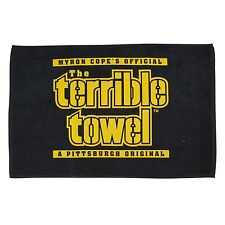 Black Terrible Towel NFL Pittsburgh Steelers Myron Cope Official Towel