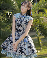 Vintage Punk Gothic Lolita Dress Cheongsam Costume Qipap Cosplay Chinese Dress