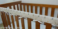 Baby Cot Rail Cover Crib Teething Pad- Peter Rabbit Neutral  100% Cotton