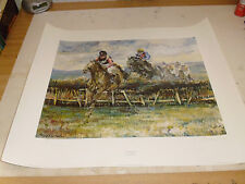 CLARE EVA BURTON OVER THE STICKS LARGE LIMITED EDITION PRINT VGC LOW POST