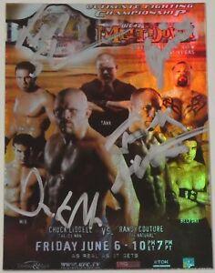 Frank Mir & Kimo Ken Shamrock Tank Abbott Signed 2010 Topps UFC 43 Poster Card