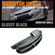 Across Radiator Grille Glossy Black for HYUNDAI 2011 - 2013 Elantra / Avante MD