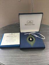 Christmas Ornament - 1998 Sage Green & Pearl - Wedgwood Millennium Gems Vintage