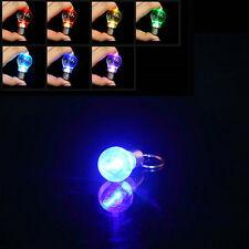 Color Changing LED Flashlight Light Bulb Lamp Key Ring Keychain Lamp Torch BU