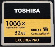 TOSHIBA EXCERIA PRO 32GB 1066x CompactFlash HD High Speed Memory Card UDMA7 SB8