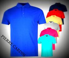Designer New Mens  Pierre Cardin Short Sleeves Plain Polo Shirt Top Size M-6XL