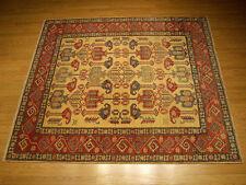 6 x 7 Hand Knotted High Quality Vegetable Dye Hand Spun Wool Afghan Kazak Rug