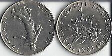 1 FRANC SEMEUSE  DE  1961 EN SUP