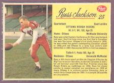 1963 POST CFL FOOTBALL #25 RUSS JACKSON EX-NM OTTAWA ROUGH RIDERS MACMASTER UNIV