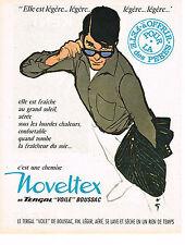 PUBLICITE ADVERTISING  1962   NOVELTEX   chemises par RENE GRUAU