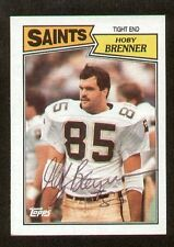 Hoby Brenner signed autograph auto 1987 Topps Football Trading Card