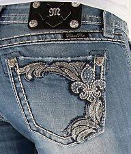 MISS ME JEANS Sale New Buckle Low Rise Fleur Cropped Capri Stretch Jean 25