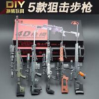 5pcs set 1:6 1/6 Scale Battlefield Weapon Gun MK14 Assault Rifle Assemble Model