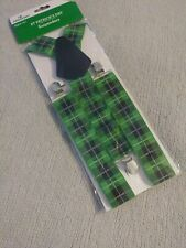 St.Patricks Day Plaid Suspenders 🍀Look Stylish & Ready To Party! 🍀 Irish Pride