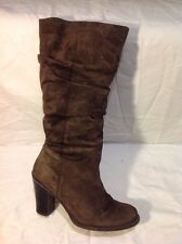 Florence+Fred Brown Knee High Suede Boots Size 7