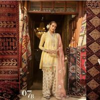 Pakistani Indian Unstitch  embroidered 3pc Lawn Shalwar Kameez for women