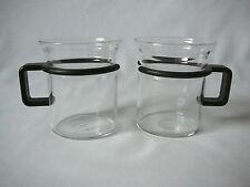 BODUM > 2< Teegläser Teetassen Glas Becher Kunststoffgriff schwarz