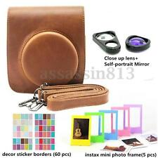 4 in 1 Fujifilm Instax Mini 90 Instant Camera Accessory Bundles Set Brown Color