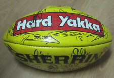COLLINGWOOD FC - OFFICIAL SHERRIN SIGNED BY 2010 PREMIERSHIP TEAM (HARD YAKKA)