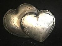 "1.5 Oz MK BarZ ""Double Heart"" Hand Poured .999 Fine Silver"