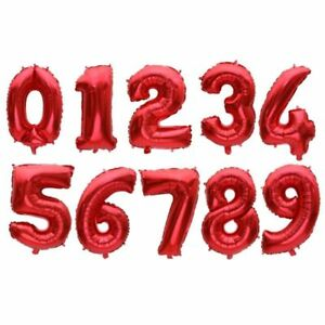 Foil Balloons Baby Shower Happy Birthday Party Wedding Numeric Globes 16 32inch