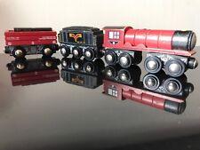 """TRU 3-Car Wooden Train, by Toys """"R"""" Us Imaginarium. Compatible w/ Thomas & Brio"""