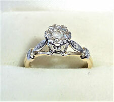 9ct Gold Diamond Solitaire Engagement Ring, Size K, US 5 1/4