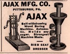 1914 AD  AJAX MFG CO WOOD BORING MACHINE CARPENTER