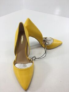 Express Womens Pointed Toe Stilletto Heels Color Yellow Size US:8 NWT #
