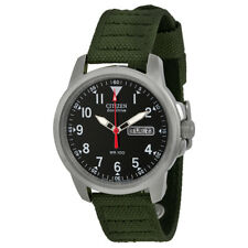 Citizen BM8180-03E Eco-Drive Green Canvas Strap Mens Watch