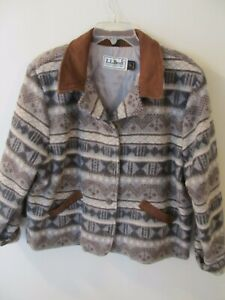 Vintage LL Bean Wool Blend Coat Jacket Made in USA - Women's Size XL Thinsulate
