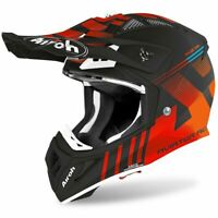 AIROH AVIATOR ACE NEMESI ORANGE MATT MOTOCROSS MX ENDURO DIRT BIKE ATV HELMET