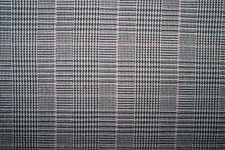 Brown Woven Herringbone Plaid #11 Lycra Stretch Apparel Fabric Bottom Weight BTY