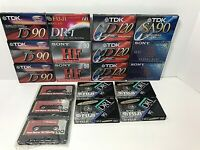 Mixed LOT of 19 Blank SEALED Cassette Tapes TDK SONY FUJI  90 120 60 NICE