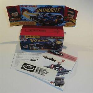 Corgi Toys  267 Batman & Robin Batmobile Empty Reproduction Early Box & Inserts