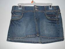 Paris Blues  Blue Denim Skirt  sz 9 Waist 34  Side Length 11.5