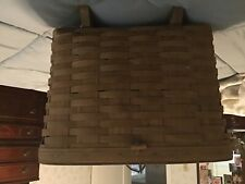 Long burger Antique picnic basket original oak lid with original leather hinges
