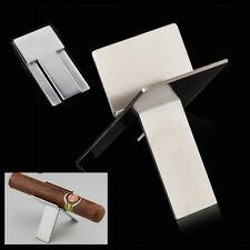 Stainless Foldable Portable Cigar Cigarette Stand Ashtray Tobacco Pipe Holder
