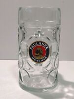 PAULANER MUNCHEN 1L GERMAN BEER GLASS STEIN ALE OKTOBERFEST COOL! FAST SHIPPING!