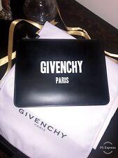 Givenchy Paris Logo Print Clutch