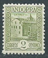 Andorra Española Sueltos 1931 Edifil 15d dentado 11½ ** Mnh