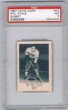 1952 Laval Dairy Subset Hockey Card Valleyfield #72 Phil Vitale Graded PSA 7