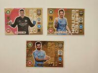 De Bruyne, Gündogan, Ederson, Manchester City, Limited Edition, adrenalyn xl 21