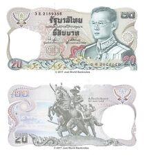 Thailand 20 Baht 1981 P-88 King Rama Banknotes UNC