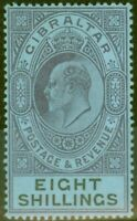 Gibraltar 1903 8s Dull Violet & Noir-Bleu SG54 Fin & Fraîches Légèrement MTD