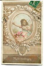 CPA - Carte Postale - Fantaisie - Portrait de Petite Fille dans un Cadre - Mille