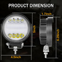 1pcs 4 Inch Round 72W Total LED Headlights Driving Head Light Fog Lamp for SUV