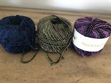 New ListingNew Muench Yarn My Touch Me luxury Wool/Chenille 61yd Purple #5407 & 2 Partial