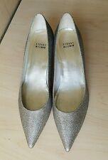Stuart Weitzman Glitter Shoes with Swarovski Crystal Heels. Size 9 1/2.