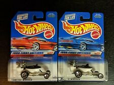 HOT WHEELS HOT SEAT,1998 First Editions, Lot of 2, Different Packages, #648 NIP
